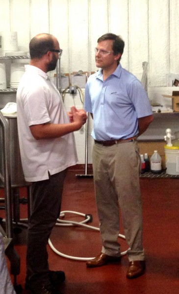 Ryan Krill and Senator Kean tour Cape May Brewing Company