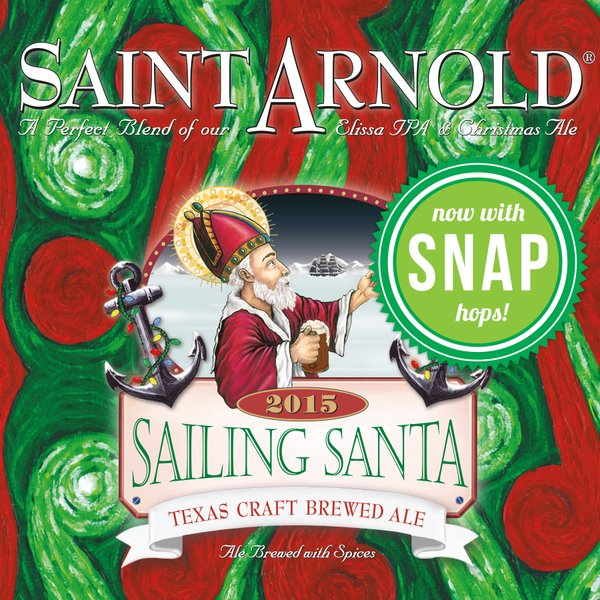Here comes Sailing Santa, featuring Snap hops that provide a ginger snap aroma.