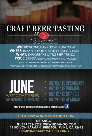 Bistango Beer Wednesdays June