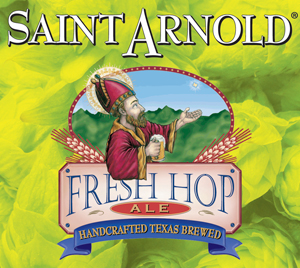 Saint Arnold Fresh Hop Ale features three different types of hops including 420 pounds of freshly harvested Citra hops that were shipped overnight to the brewery.