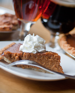 Sweet potato pie and beer
