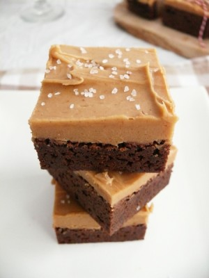 Sea-Salted Peanut Butter Stout Brownie Bars