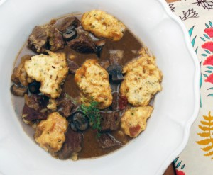 Beer-Braised Pot Roast with Dumplings