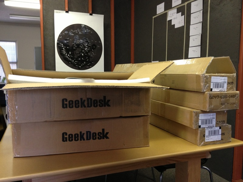 Geek desks!