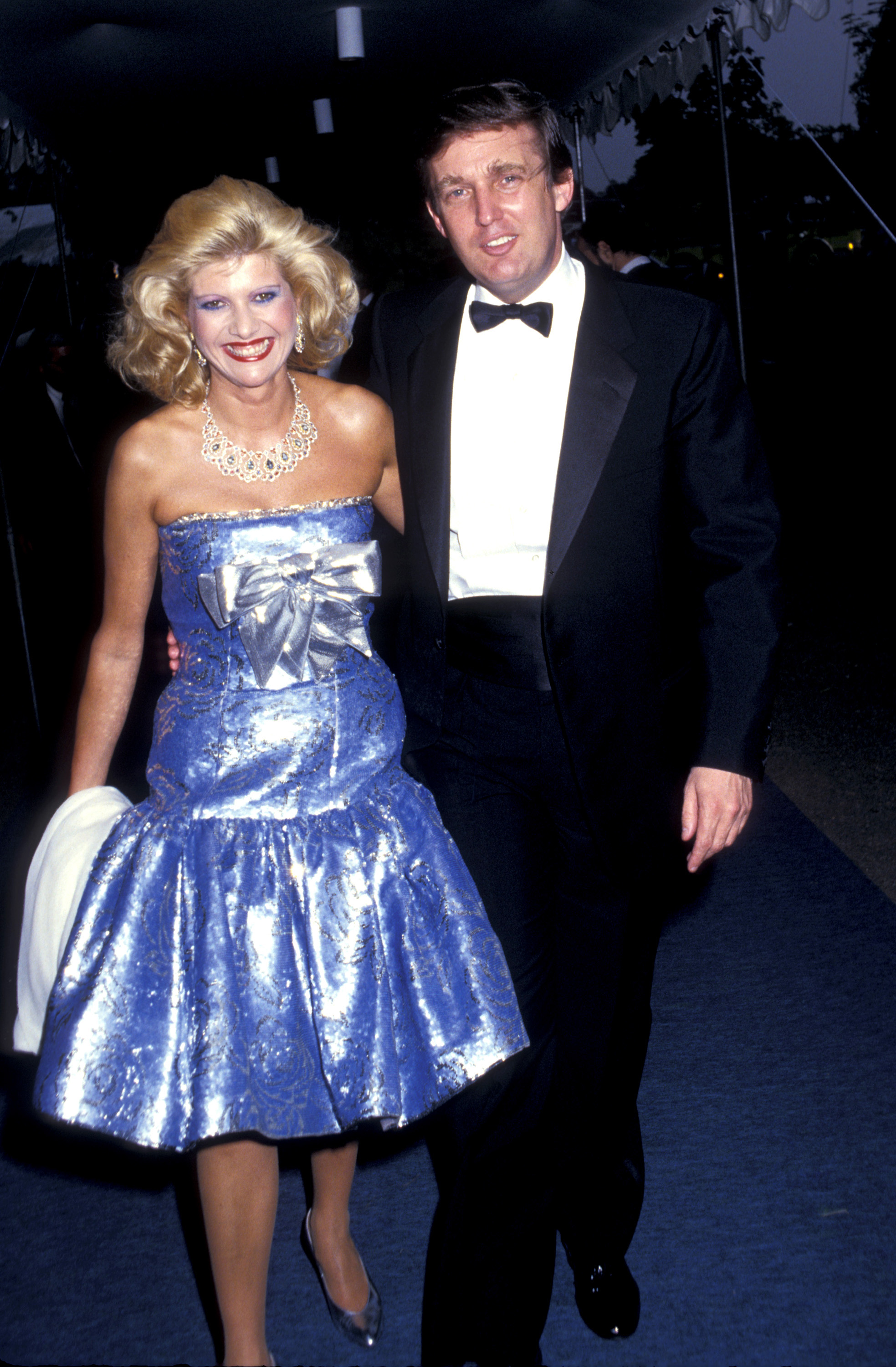 Ivana Trump and Donald Trump during Forbes Magazine's 70th Anniversary Celebration at Timberland Estate in Far Hills, New Jersey, United States. (Photo by Ron Galella, Ltd./WireImage)