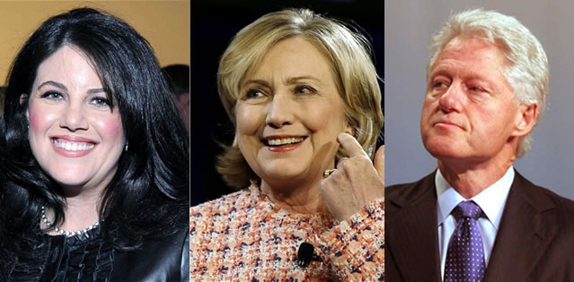 El escándalo del presidente Clinton fue de los primeros en ocupar los titulares de la prensa / FOTO: enews.com yblogspot.com