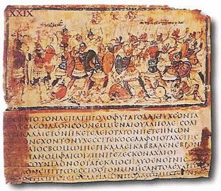 Iliad viii 245 253 in cod f205  milan  biblioteca ambrosiana  late 5c or early 6c