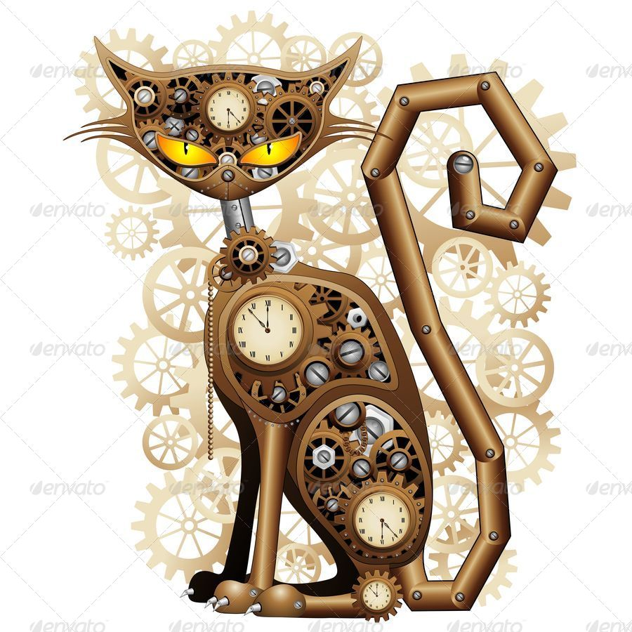 B steampunk cat jpg 900 1