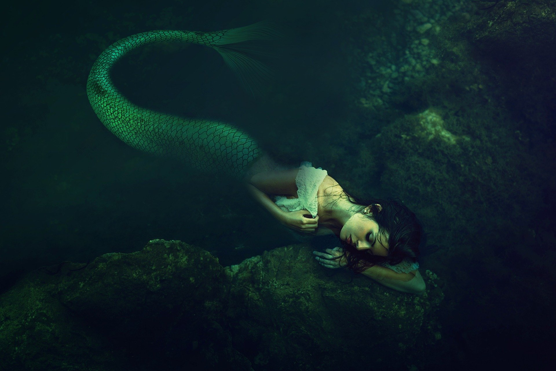 Melancholy mermaid