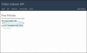 Getting started with the Video Indexer API