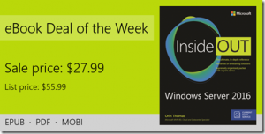 ebook deal of the week: Windows Server 2016 Inside Out (includes Current Book Service)