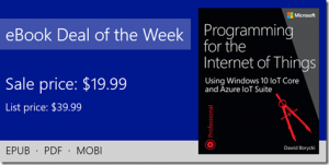 ebook deal of the week: Programming for the Internet of Things