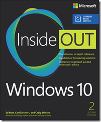 Current Book Service update: Windows 10 Inside Out, Second Edition