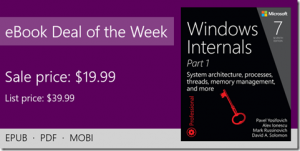 ebook deal of the week: Windows Internals, 7th Edition, Part 1
