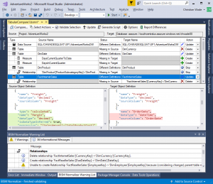 Model comparison and merging for Azure Analysis Services