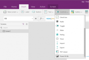 PowerApps and Power BI, together at last