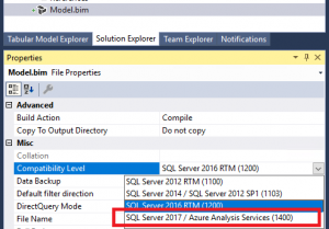 Analysis Services Innovations in SQL Server 2017