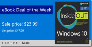 ebook deal of the week: Windows 10 Inside Out (includes Current Book Service), 2nd Edition