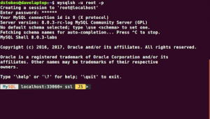 MySQL Shell with Command Completion