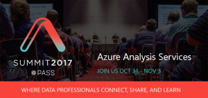 Meet the Azure Analysis Services team at PASS Summit 2017