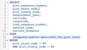 Get to know your trees: US Forest Service (FIA) dataset now available in BigQuery