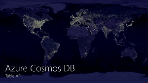 Announcing the general availability of Azure #CosmosDB Table API