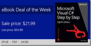 ebook deal of the week: Microsoft Visual C# Step by Step, 8th Edition
