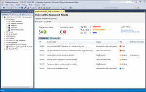 SQL Vulnerability Assessment now available for SQL Server 2012 and up
