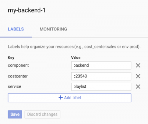 Use labels to gain visibility into GCP resource usage and spending