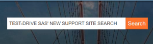 Test-Drive SAS' new Support site search