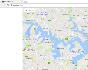Integrating ReactJS with the Google Maps widget