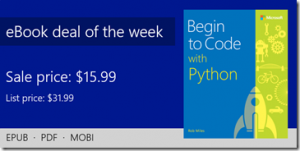 ebook deal of the week: Begin to Code with Python