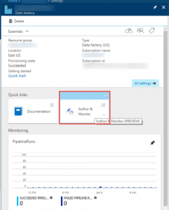 Azure Data Factory: Visual Tools enabled in public preview