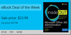 ebook deal of the week: Microsoft Office 365 Administration Inside Out (Includes Current Book Service), 2nd Edition