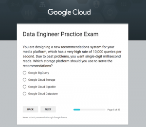 Practice makes perfect: the Professional Data Engineer Practice Exam is now live
