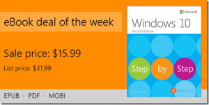 ebook deal of the week: Windows 10 Step by Step, 2nd Edition