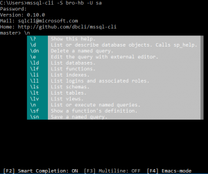 Announcing a new update for mssql-cli: Special Commands