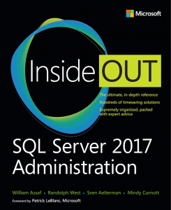 New book: SQL Server 2017 Administration Inside Out