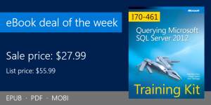 ebook deal of the week: Training Kit (Exam 70-461) Querying Microsoft SQL Server 2012