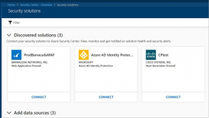 Azure Security Center and discovery of partner solutions