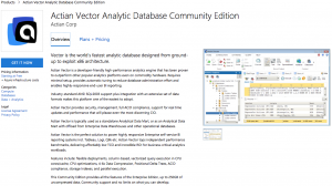 Actian Vector – Community Edition Launches on Azure Marketplace