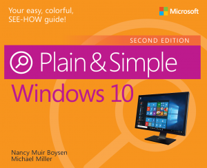 New book: Windows 10 Plain & Simple, Second Edition