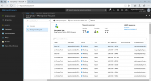 Streamlining GDPR requests with the Azure portal