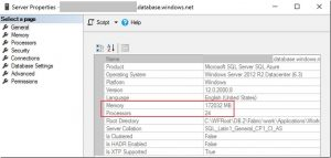CPU and Memory Allocation on Azure SQL Database Managed Instance
