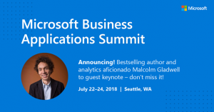 JUST ANNOUNCED! Bestselling author Malcolm Gladwell to keynote at Microsoft Business Applications Summit