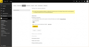 Easier set up of datasets in Power BI