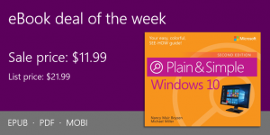 ebook deal of the week: Windows 10 Plain & Simple, 2nd Edition