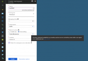 Azure Service Bus is now offering support for Availability Zones in preview
