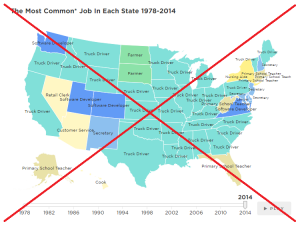 What are the most common occupations in each US state?