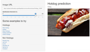 Not Hotdog: A Shiny app using the Custom Vision API